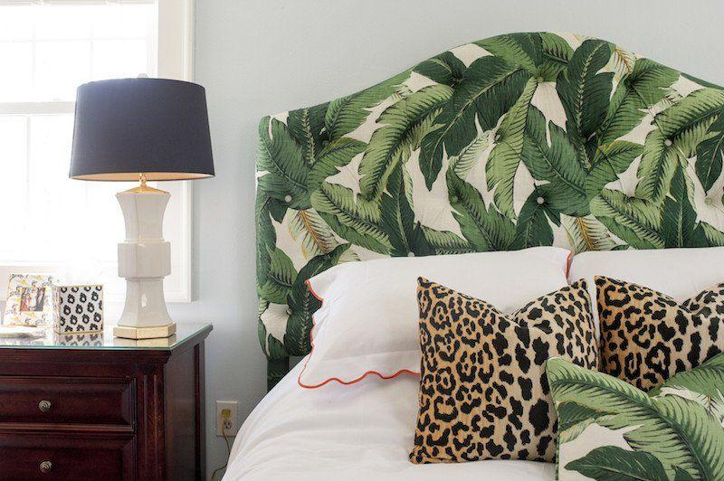 Banana leave headboard