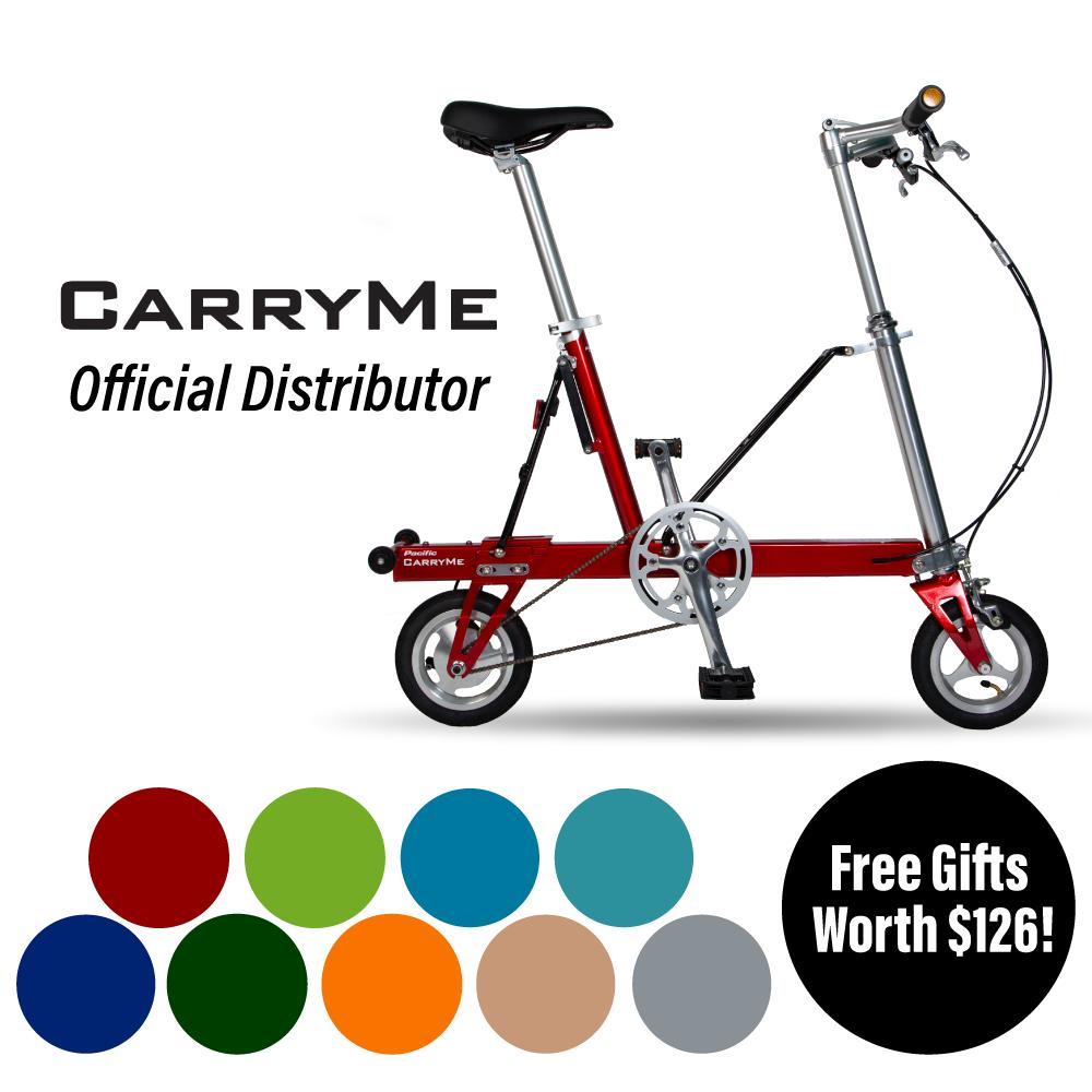 Carryme Sd Folding Bicycle ⭐️ With Free Gifts Worth $126 ⭐️ By Mighty Velo.