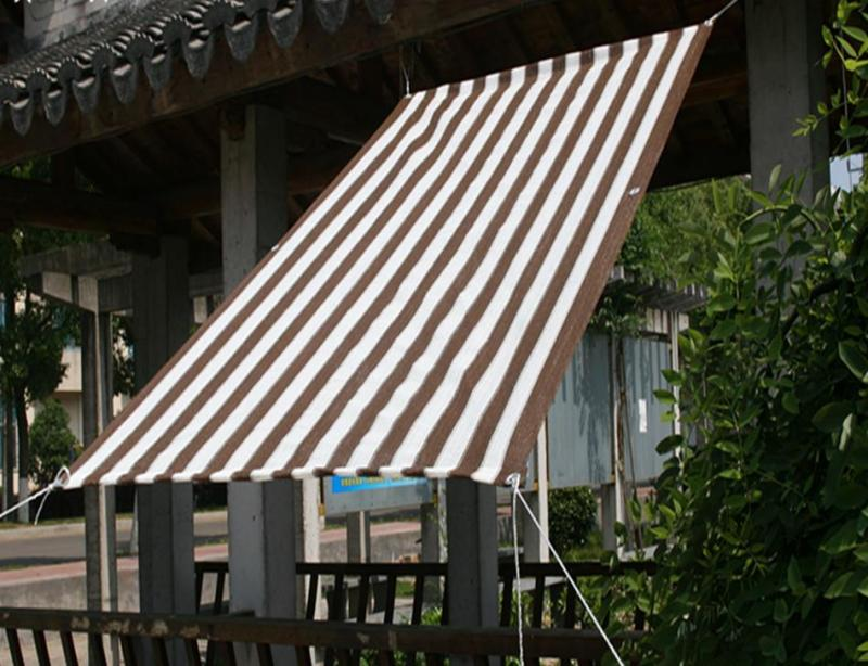 0.9x1m Sun Shade Mesh Net 80% UV Blocking Awning Canopy Outdoor Garden Sun Shelter UV Protection Plant Cover Color Stripe