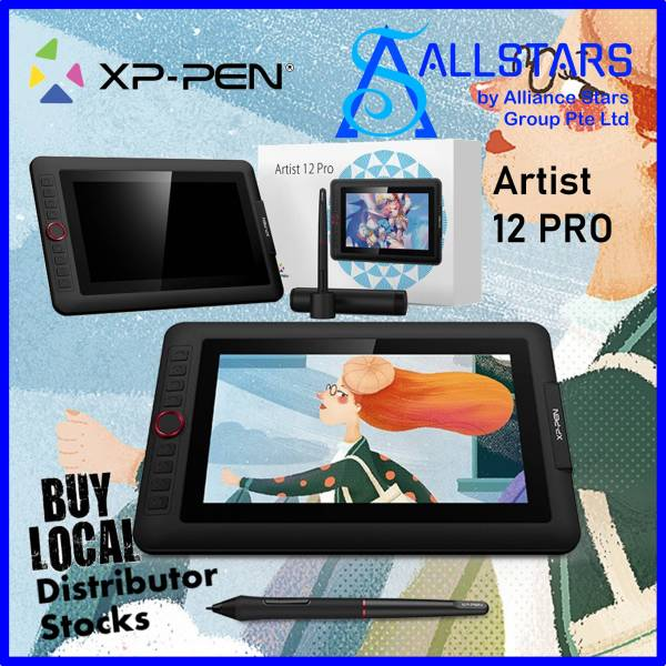 (ALLSTARS : We are Back / Drawing PROMO) XP-Pen Artist Display 12 Pro Drawing Pen Display Tablet / 11.6 inch Full HD (XPPen / XP Pen) / Drawing Tablet / Pen Monitor Drawing Tablet (support Windows/Mac) (Warranty 1year with Local Distributor Avertek)