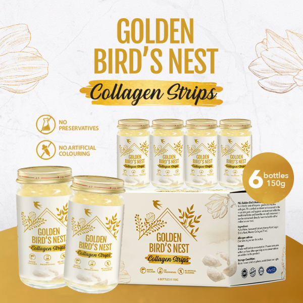 Buy [Bundle Of 2] Golden Bird Nest Collagen Strips - 150g x 6 bot Singapore