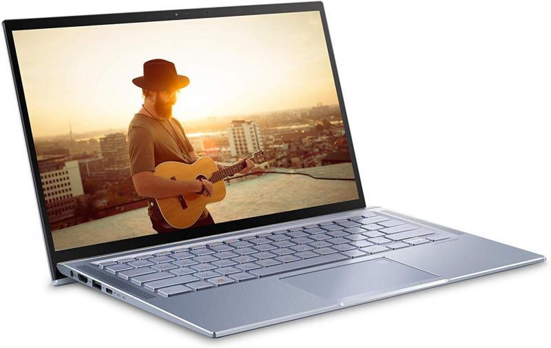 "ASUS ZenBook 14 Ultra Thin & Light Laptop, 4-Way NanoEdge 14"" Full HD, Intel Core i7-8565U, 8GB LPDDR3 RAM, 512GB NVMe PCIe SSD, Wi-Fi 5, Windows 10, Silver Blue,"