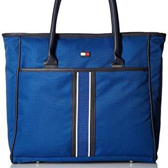 [SG SELLER] Tommy Hilfiger Unisex Signature Solid Travel Tote Bag in Blue