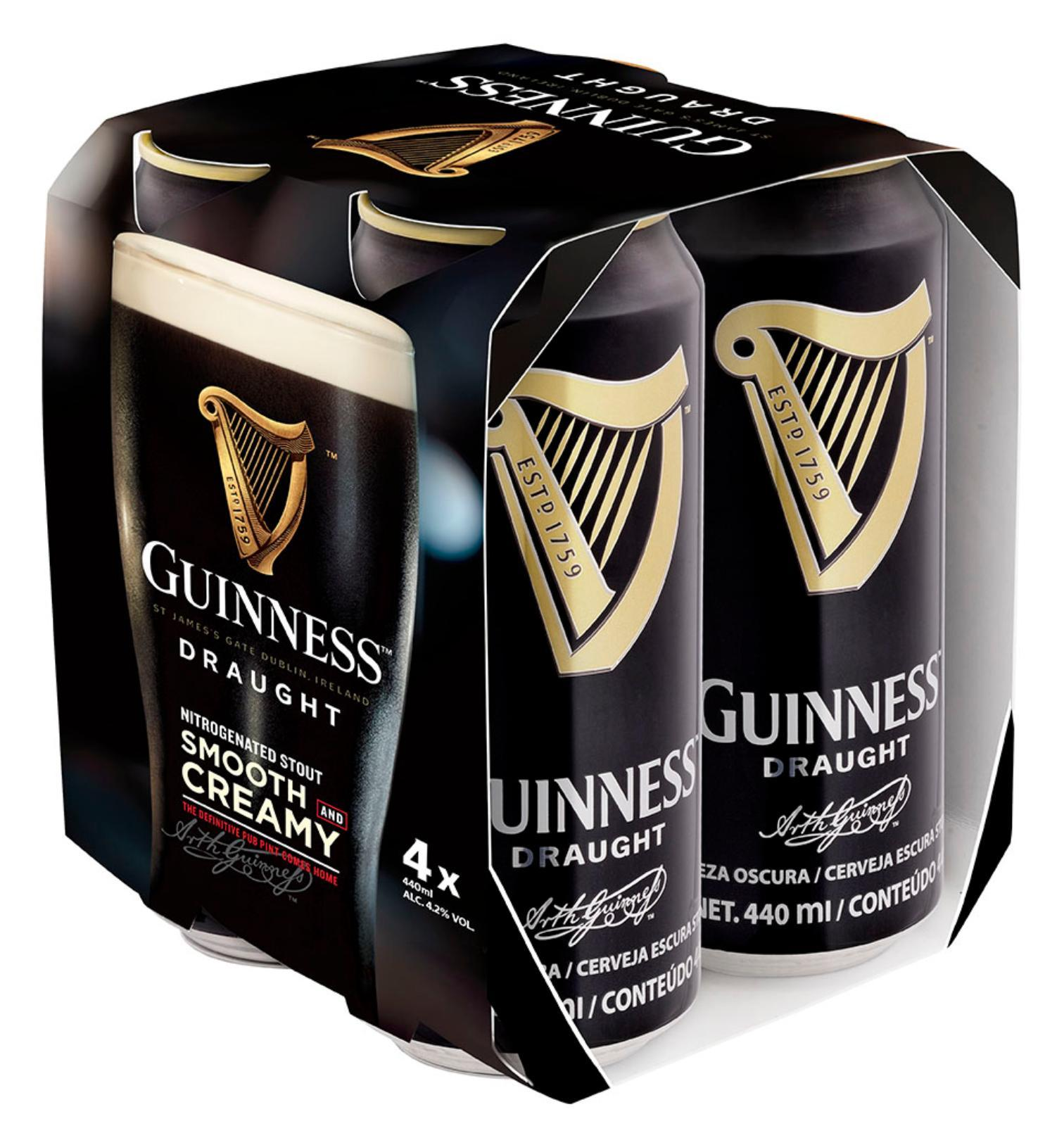 GUINNESS Draught Beer 4sX320ml
