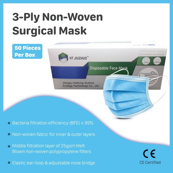 Buy Disposable Face Mask (3Ply), 50pcs Singapore
