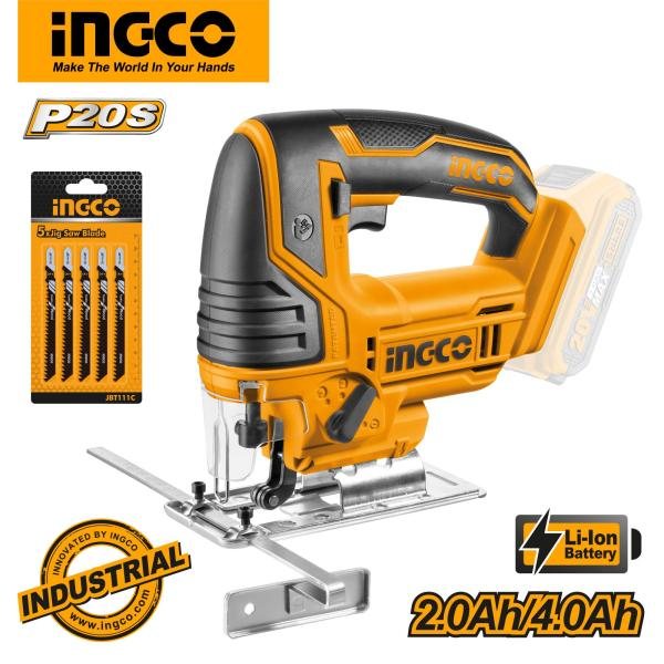 INGCO P20S Tools 20V Lithium-Ion Jig Saw CJSLI8501 (Body Only)