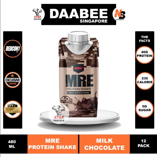 Buy Redcon1 MRE Protein Shake (480ml) Milk Chocolate 12 Pack Singapore