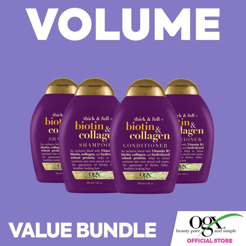 Buy OGX Biotin and Collagen Shampoo x2 and Conditioner x2 Singapore