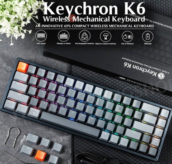 Keychron K6 Wireless Mechanical Keyboard ( Free Shipping )