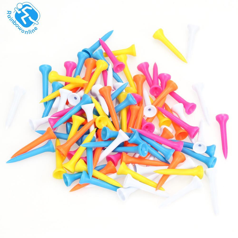 100pcs Mixed Color Plastic 42mm(1 2/3 Inch) Golf Tees - Intl.