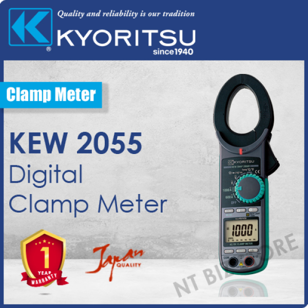 Kyoritsu 2055 AC/DC Digital Clamp Meter (Japan Products)