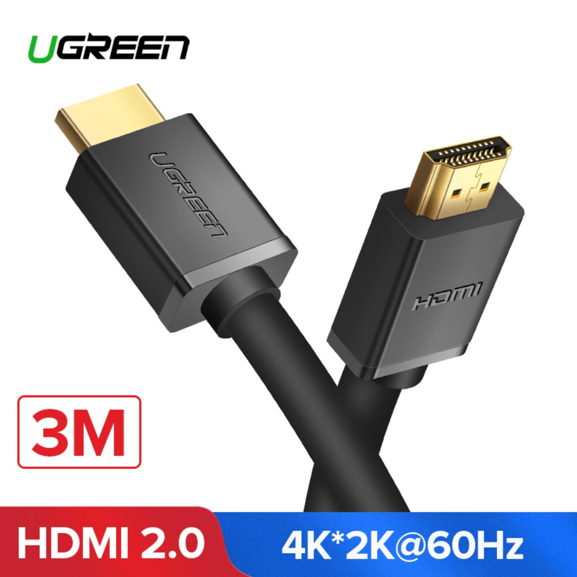 UGREEN 3Meter HDMI Cable 4K HDMI 2.0 Male to Male High Speed HDMI Adapter 3D for