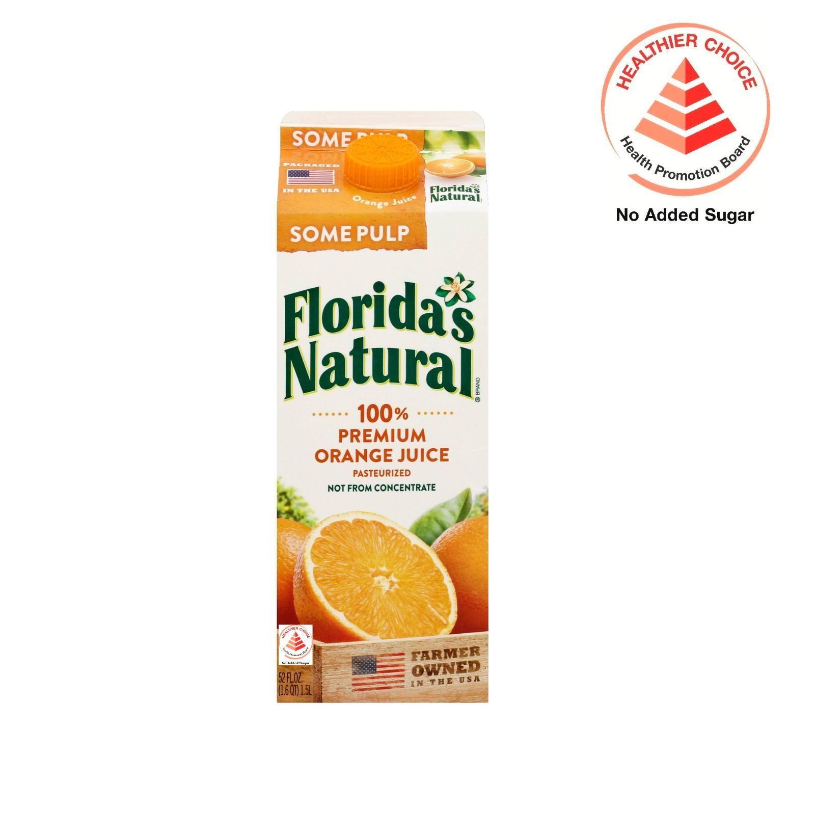 Floridas Natural Nfc Home Squeezed (some Pulp) Orange Juice By Redmart.
