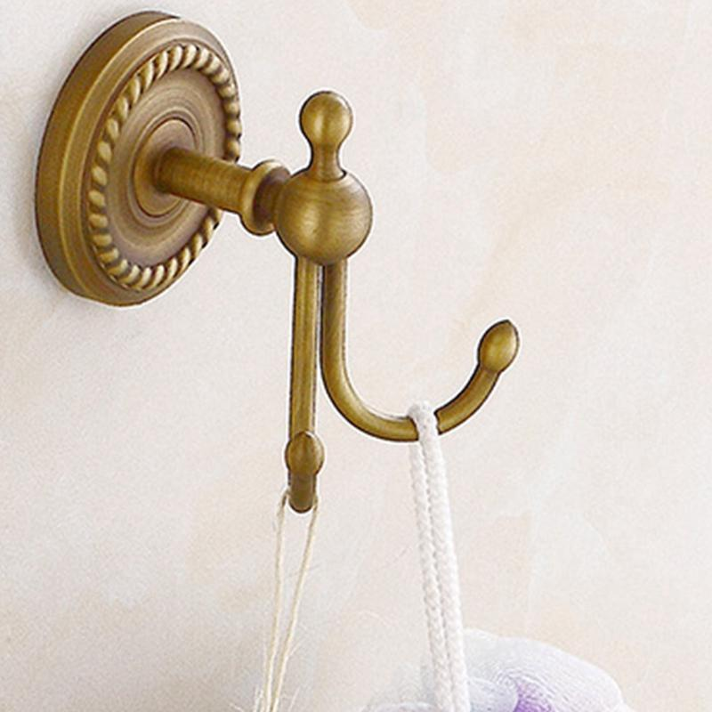 Antique Bronze Color Brass Wall Hooks Mounted Bathroom Coat Hook Bathroom Accessories