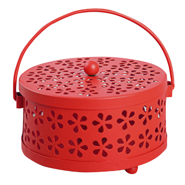 Portable Hollowed Hanging Home Garden Metal Mosquito Coil Holder