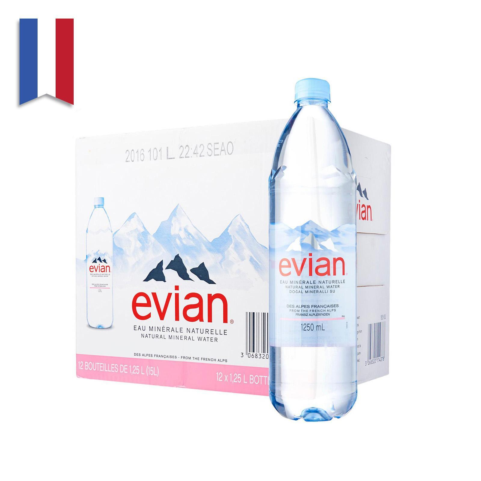 Evian Natural Mineral Water - Case (12 x 1.25L)