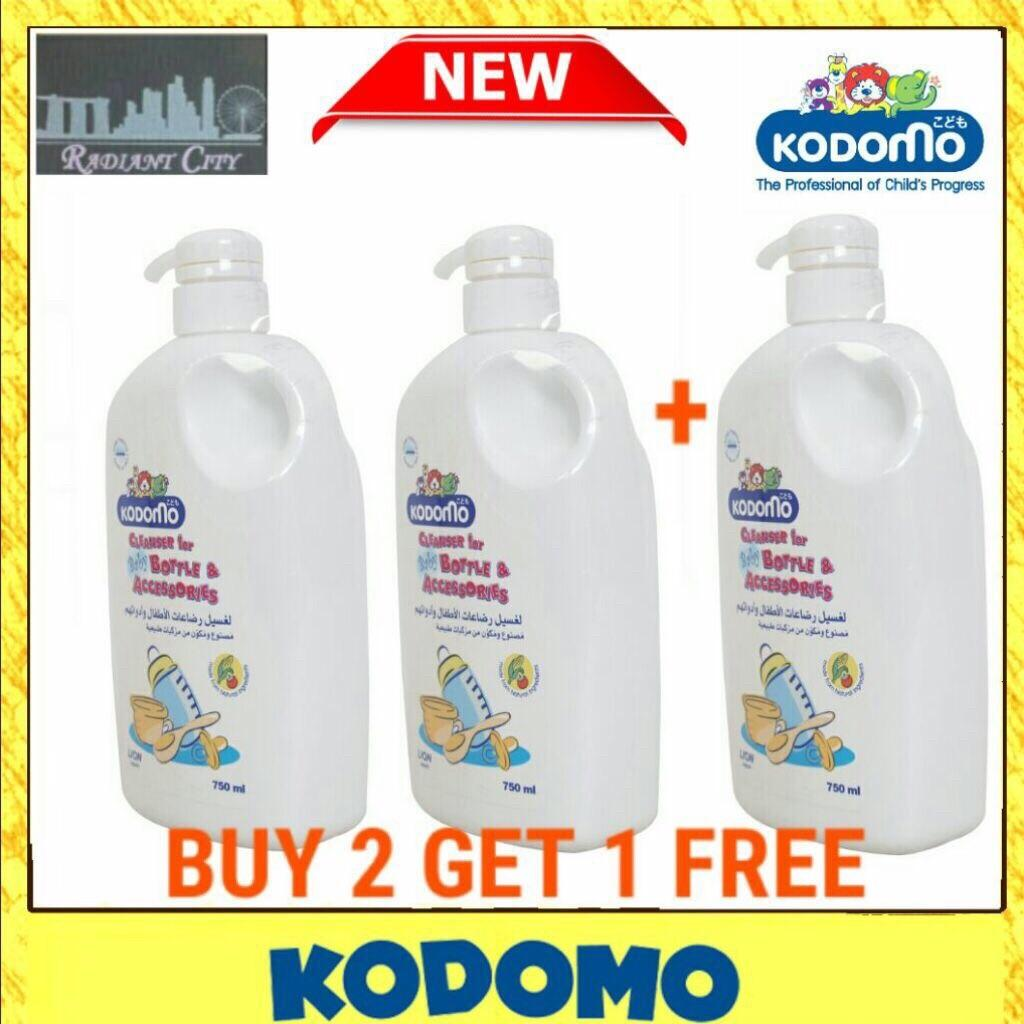 Xmass Promo [kodomo] Kodomo Baby Cleaners - Bottle And Accessories 750ml X 3pcs By Radiant_singapore.