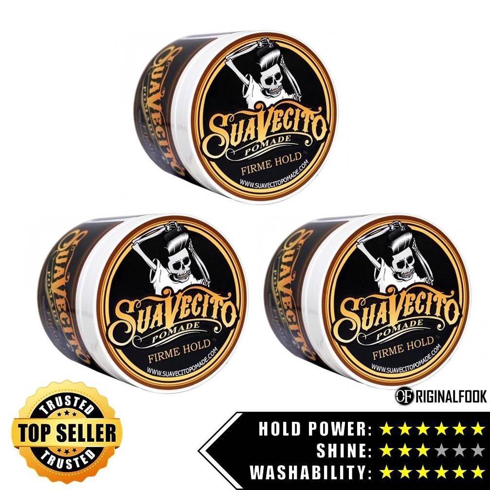 Suavecito Firm Hold Strong Hold Pomade 4oz Triple Bundle