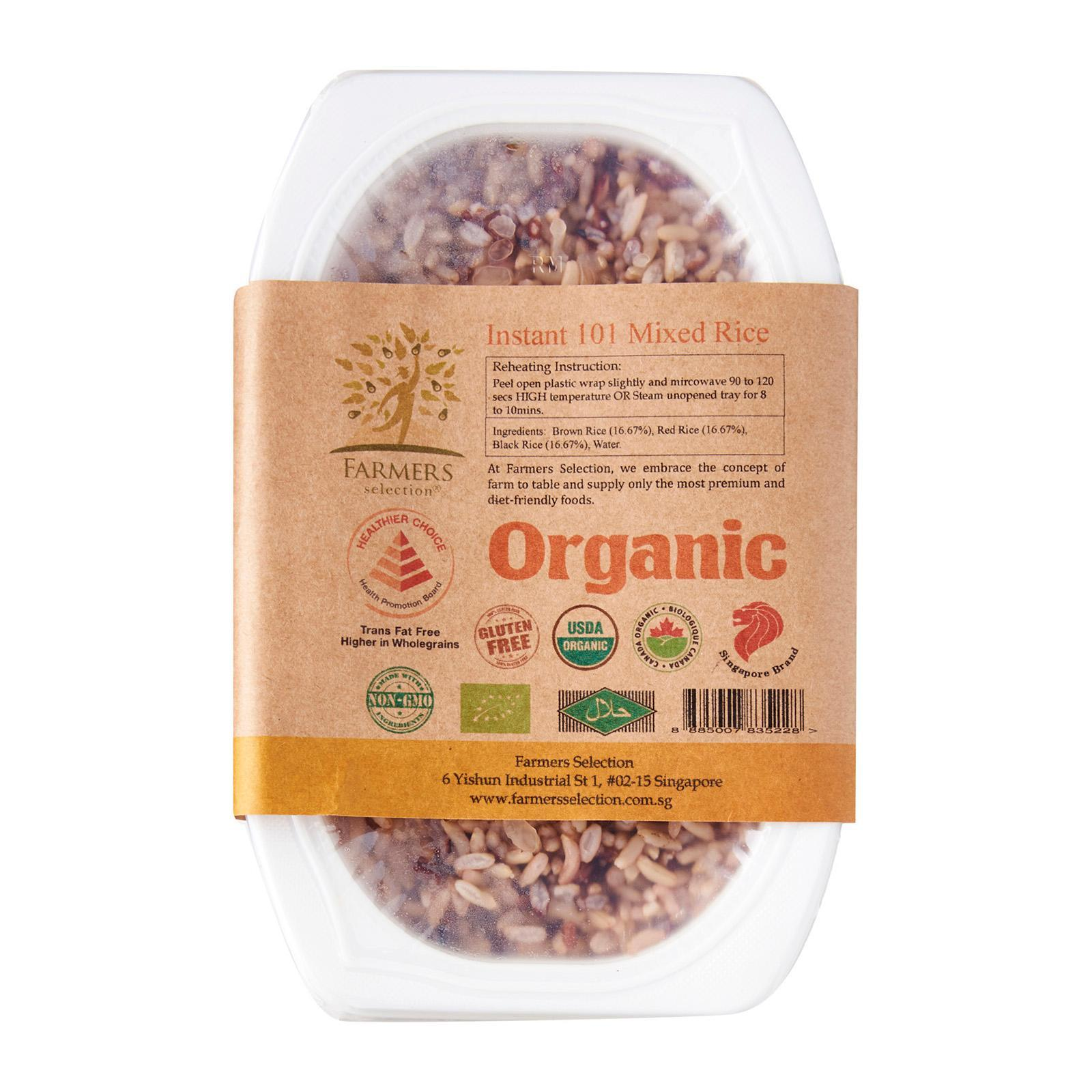 Farmers Selection Instant Organic Mixed Rice Instant Organic Rice By Redmart.
