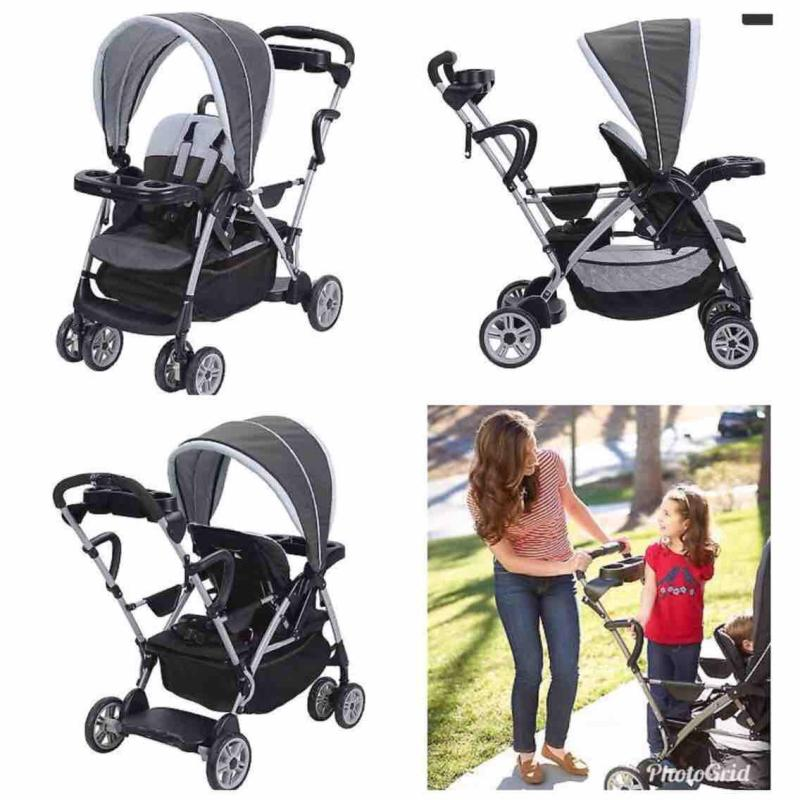 Graco Roomfor2 Click Connect Stand and Ride Stroller, Gotham Singapore