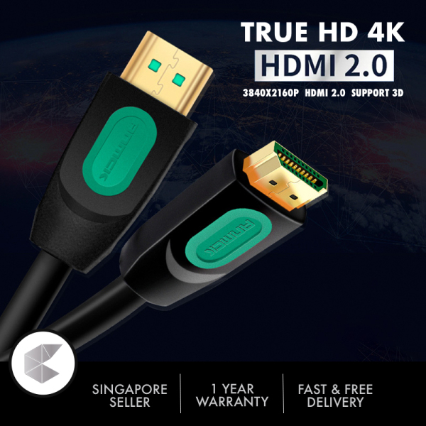 Singapore Ready Stock High Speed HDMI v2.0 Cable 4K 60HZ with Ethernet 3/5 Meter, HDMI 2.0 Cable, HDMI cable 3 meter 5 meter