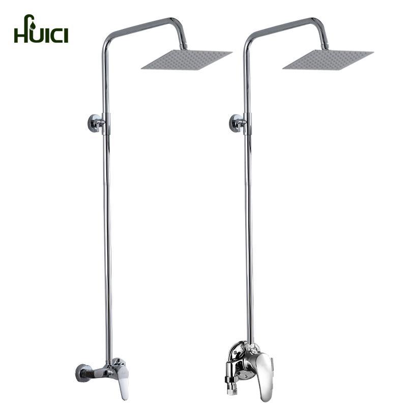 HUICI Sanitary Ware Copper Shower Head Set Simplicity Shower Bath Construction Site Shower Simplicity Set