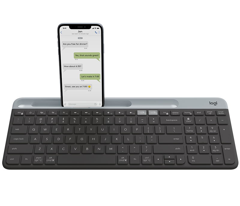 Logitech K580 2.4G Wireless Keyboard Ultra-thin Bluetooth Office Keyboards Unifying Dual Mode Multi-Device for Computer Tablet Singapore