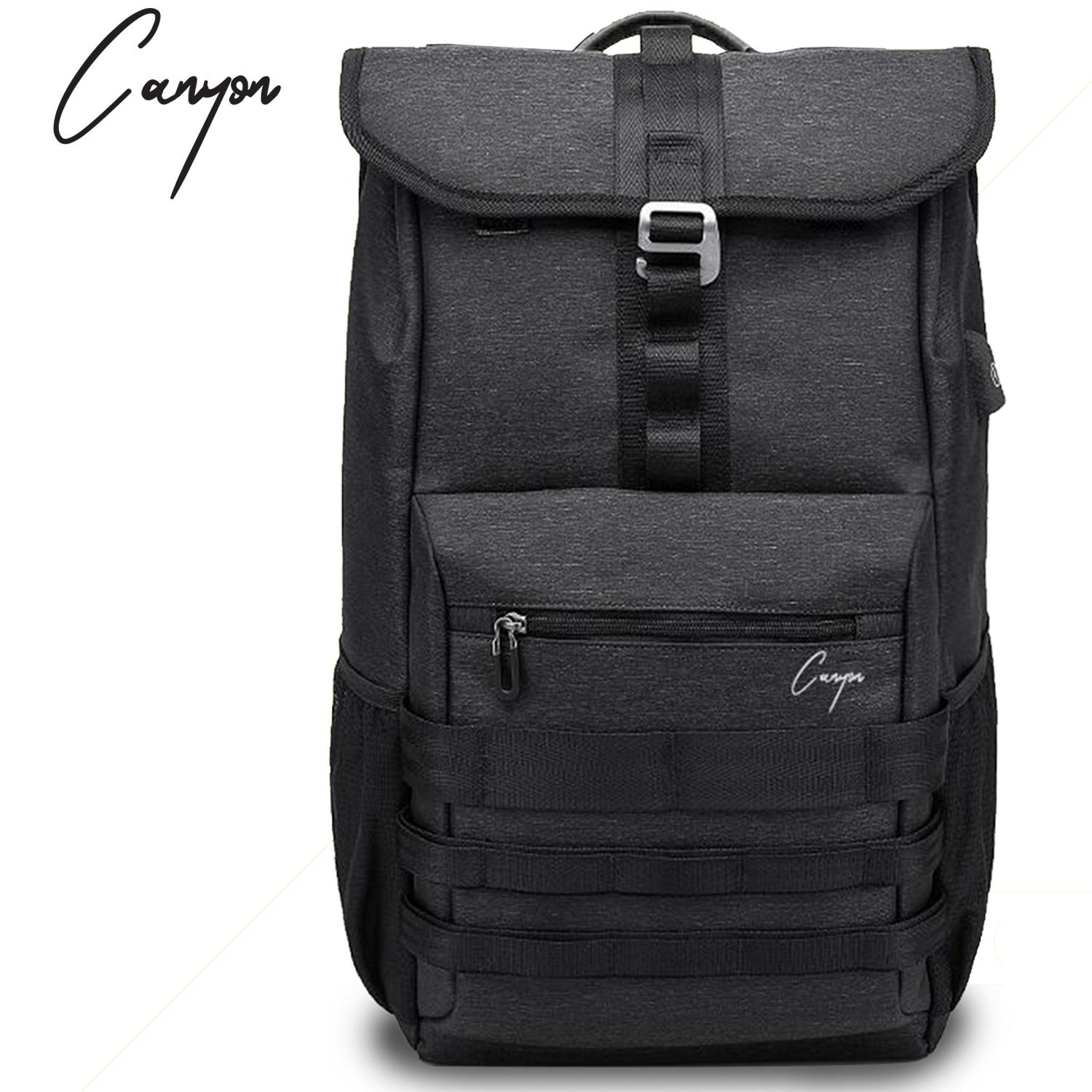 dc5d3ebfcb13 (Lazada Exclusive) ONYX Canyon New Black Urban Mens Travel Backpack 40L