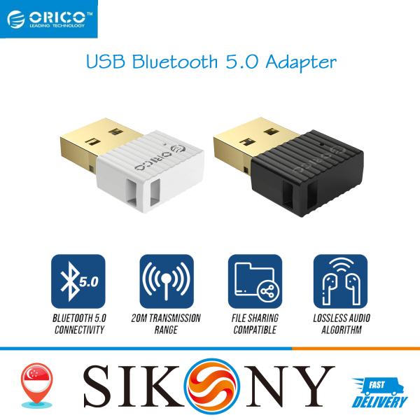 SG SELLER ORICO Wireless USB Bluetooth 4.0 5.0 Dongle Adapter Audio Receiver for PC(BTA-508)