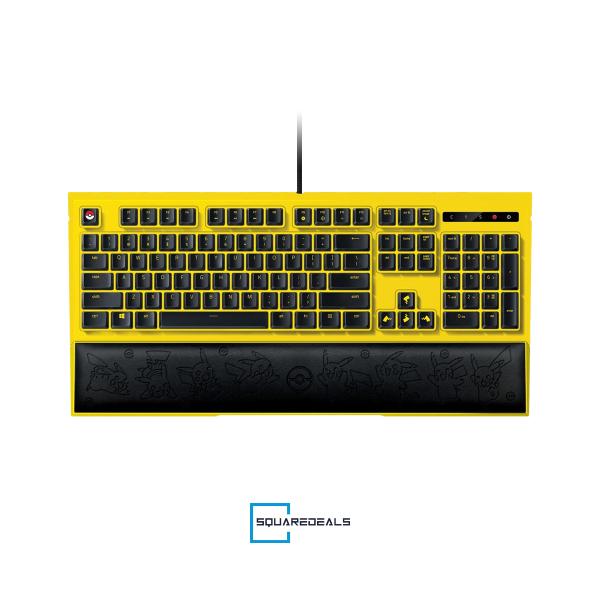 Razer Pokemon Pikachu Ornata Expert Mecha Membrane Backlit Gaming Keyboard US Singapore