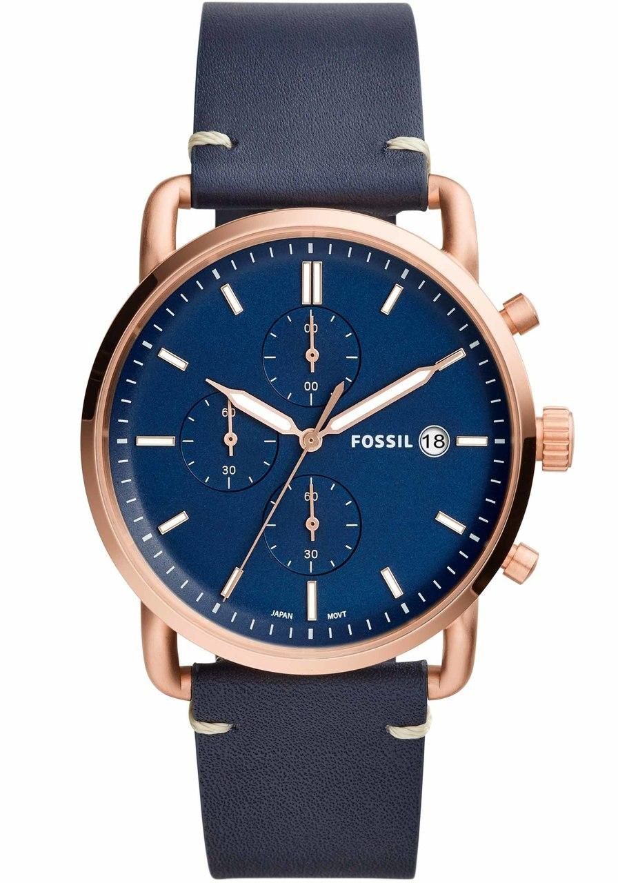 9cc2bfdb7 Fossil Commuter Chronograph Blue Dial Men's Watch FS5404