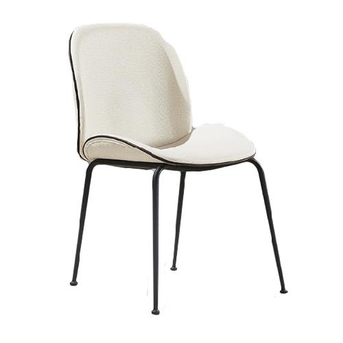 JIJI (New LAURIE Designer Dining Chair) (Free Installation) / Dining Chair / Designer Chair / Gold Frame / Leather / Fabric / 12 Month Warranty / (SG)
