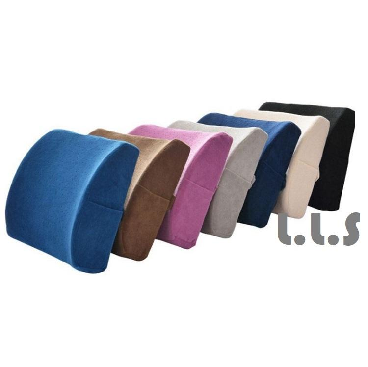 Memory Foam Breathable Health Back Waist Seat Support Travel Pillow (HM1061) Singapore Seller + 100% Authentic.