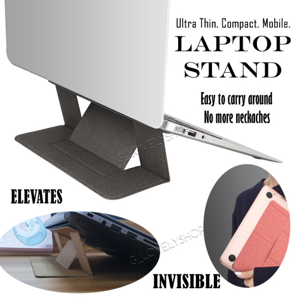 Invisible Laptop Stand Compact Folding Mobile Support