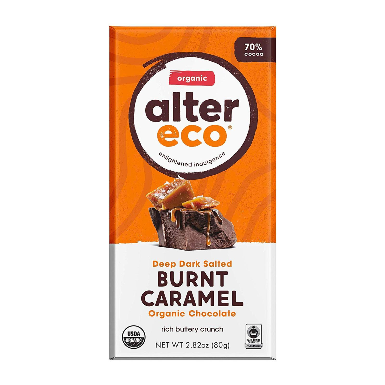 Alter Eco Organic Dark Salted Burnt Caramel Chocolate - By Wholesome Harvest