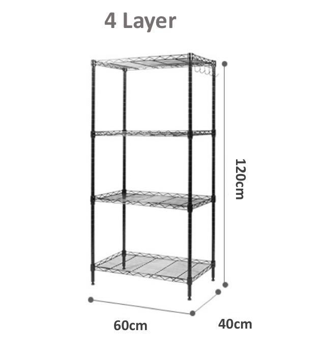 Storage Shelf Shelves Anti-Rust Coating Metal Steel Room Rack Level Adjustable