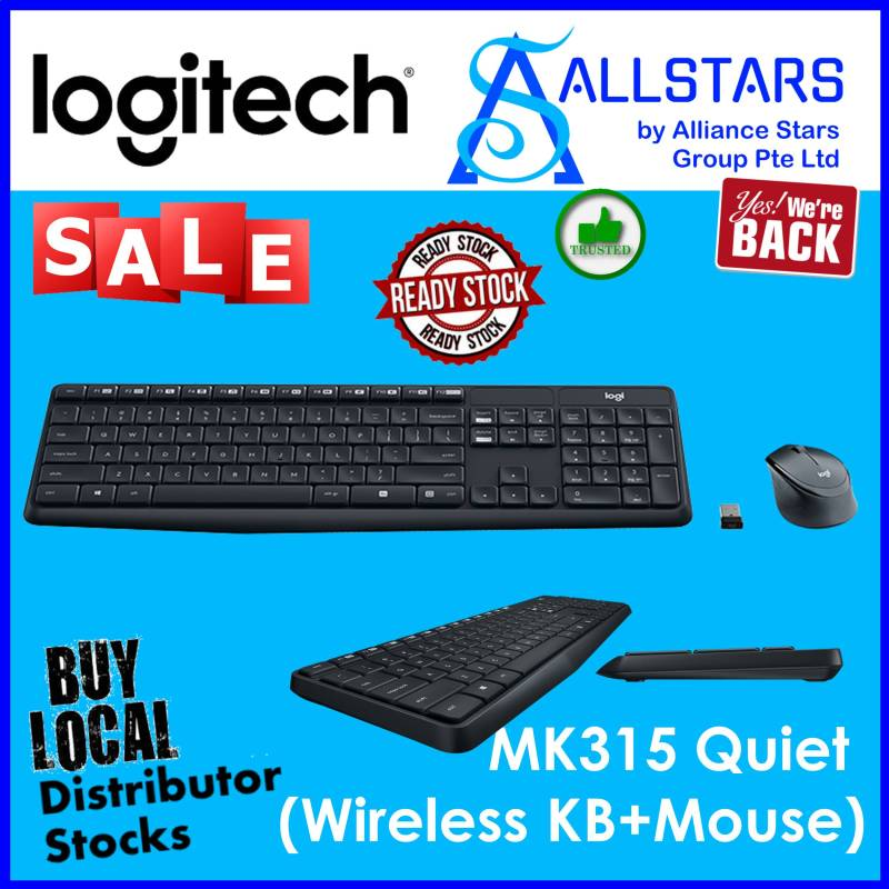 (ALLSTARS : We are Back / Keyboard & Mouse Promo) LOGITECH MK315 Silent Wireless Combo (920-009068) (Warranty 1year with BanLeong) Singapore
