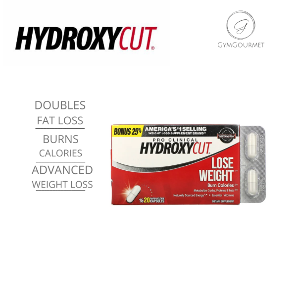 Buy Hydroxycut, Pro Clinical Hydroxycut, Lose Weight, 20 Rapid-Release Capsules Singapore