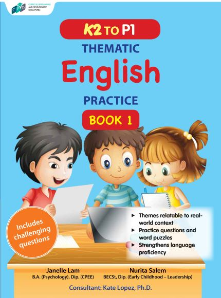 K2 to P1 Thematic English Practice Book 1/Assessment Books