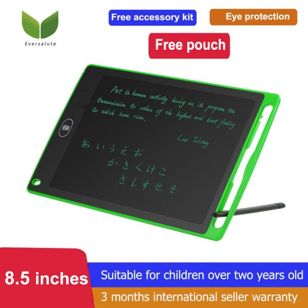 8.5-Inch LCD Drawing pad With Carring Pouch and Free Accessory kit,Eversalute Writing Tablet- Drawing and Writing Board - Useful at the Office Home School- Great Gift for Kids
