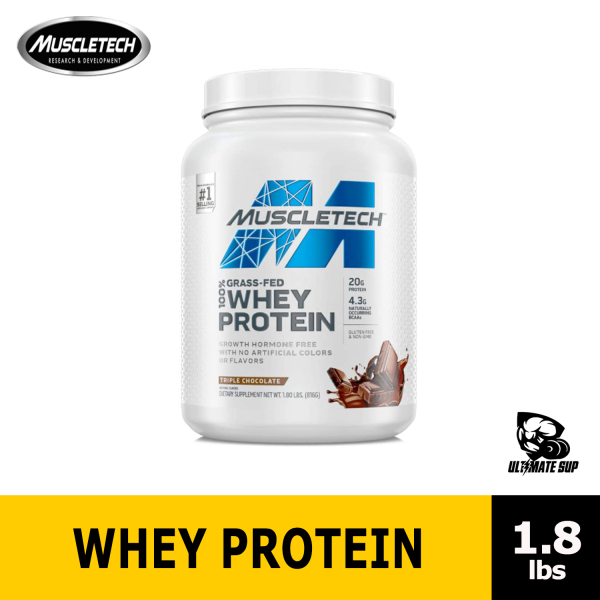 Buy MuscleTech Grass Fed Whey Protein Powder for Muscle Gain   Growth Hormone Free Gluten Free 1.8 lbs Singapore