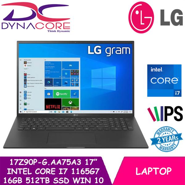 【Ready stock】DYNACORE - LG 17Z90P-G.AA75A3   17Inch   INTEL CORE I7-1165G7   16GB RAM   512TB SSD   WIN 10 HOME