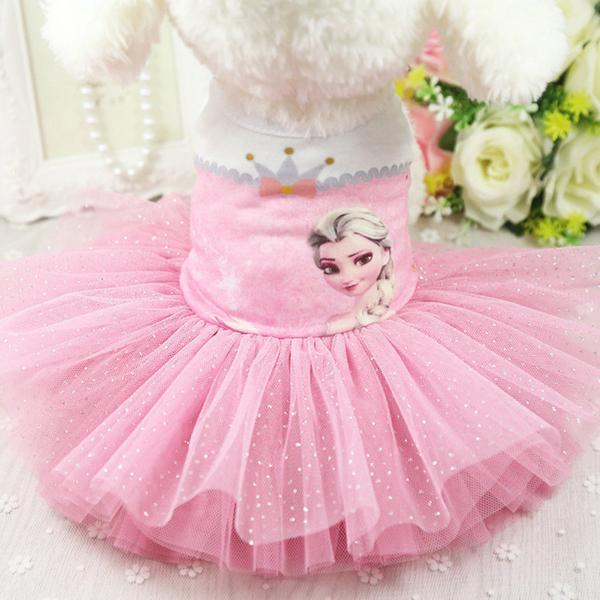 Đầm Công Chúa Đông Lạnh Cho Thú Cưng Thời Trang, Váy Cho Chó Mèo Cái