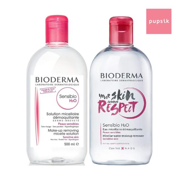 Buy [2-pack] Bioderma Sensibio H2O Make-up Removing Micellar Solution, 500ml (exp 10/22) Singapore