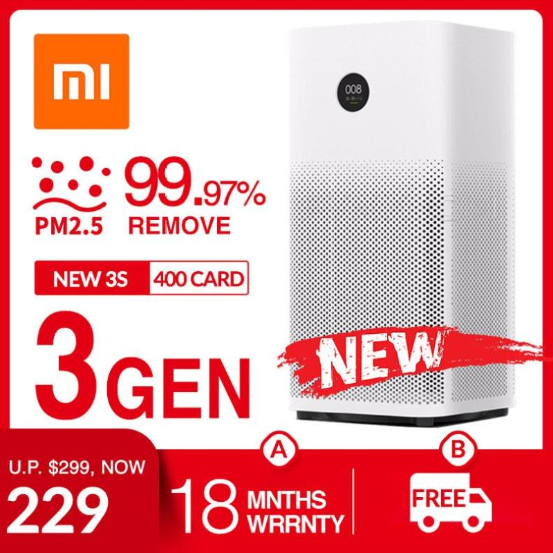 Xiaomi Mijia Air Purifier 3 Air Conditioner 99.97% PM2.5 Remove Circulator Fan HEPA Filter 400CARD 48SQM Active Charcoal Fibre HEPA Filter Singapore
