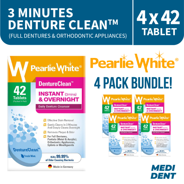 Buy PEARLIE WHITE DENTURE CLEANSING TABLETS 42S [BUNDLE OF 4] Singapore