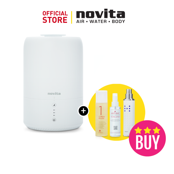 CNY $188 Bundle of 4 - novita Humidifier NH810 + Air Purifying Solution Concentrate + Anti-Bac Spray + Portable Disinfectant H-Mist22 Singapore