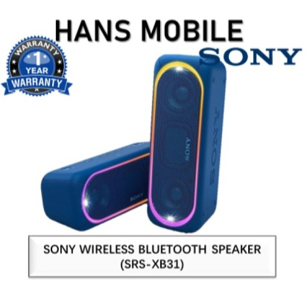SONY SRS-XB31 EXTRA BASS PORTABLE BLUETOOTH SPEAKER - HANS MOBILE - BLACK/BLUE/RED - 1 YEAR LOCAL SONY OFFICIAL WARRANTY Singapore