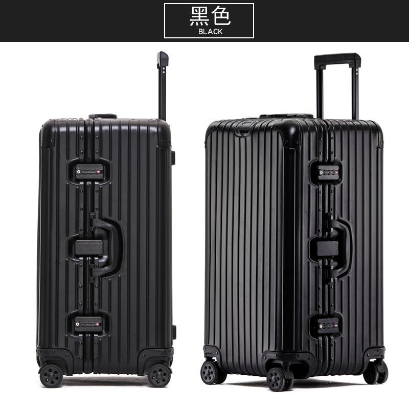 Ggx Large Thick Aluminum Magnesium Alloy Travel Trolley Consignment Luggage Aluminum Frame Password Travel Box