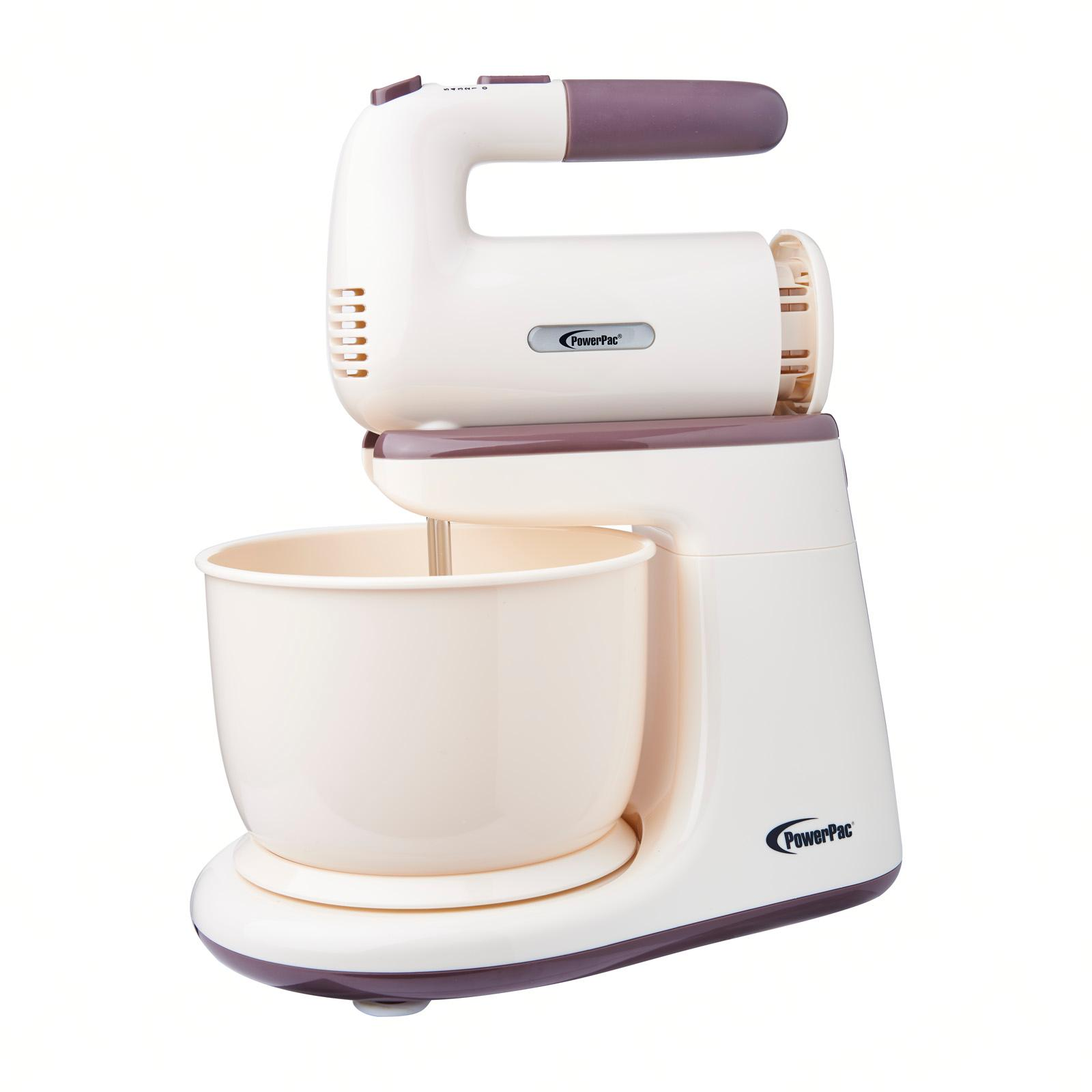 PowerPac Hand / Stand Mixer With Bowl (PPSM208)